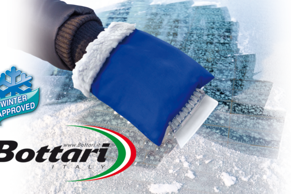 raschiaghiaccio con guanto Bottari Ice scraper glove Bottari