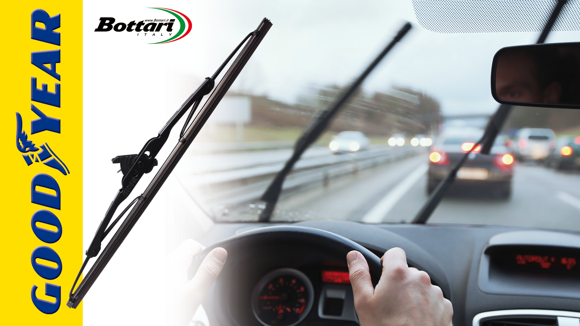 Goodyear Windshield Wipers >> Goodyear Rain Control Windscreen Wipers With Metal