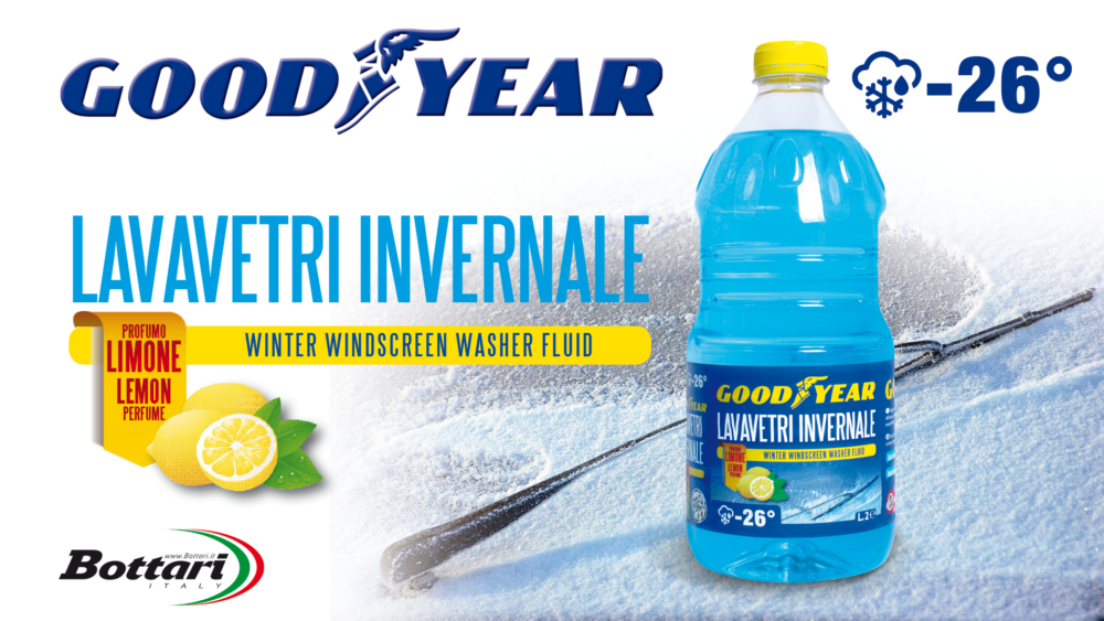 Lavavetri invernale -26° Goodyear Winter windscreen washer fluid -26° Goodyear