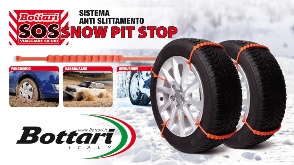 Fasce anti slittamento da neve per auto SNOW PIT STOP Anti-skid system Snow Pit Stop