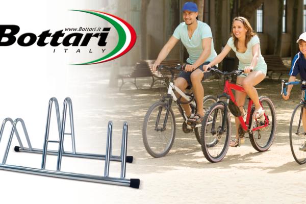 Portabici da terra 3 posti Bottari Bottari 3 bike floor rack