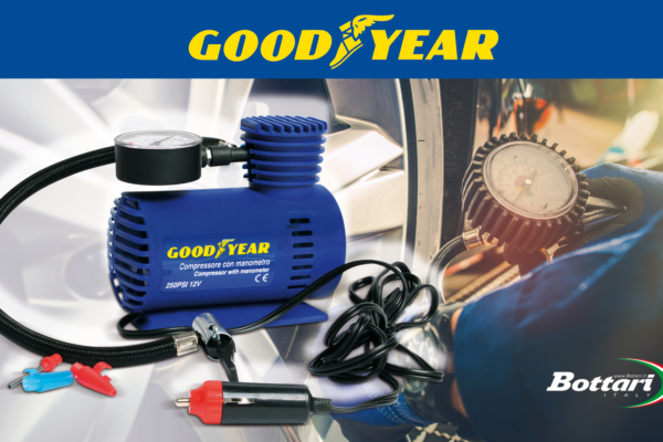 Compressore 12V con manometro Goodyear Goodyear 12V compressor with pressure gauge