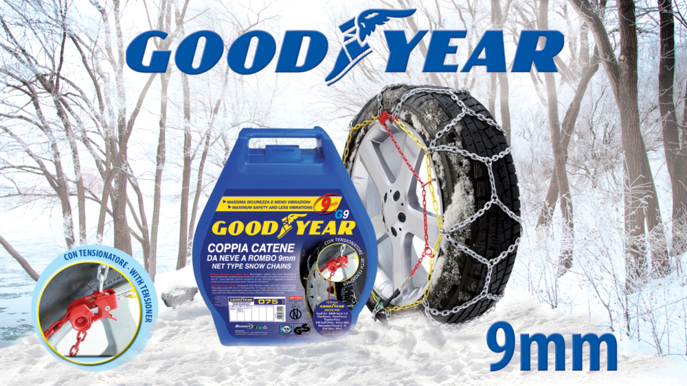 Catene da neve 9mm Goodyear G9 Snow chains 9mm Goodyear G9