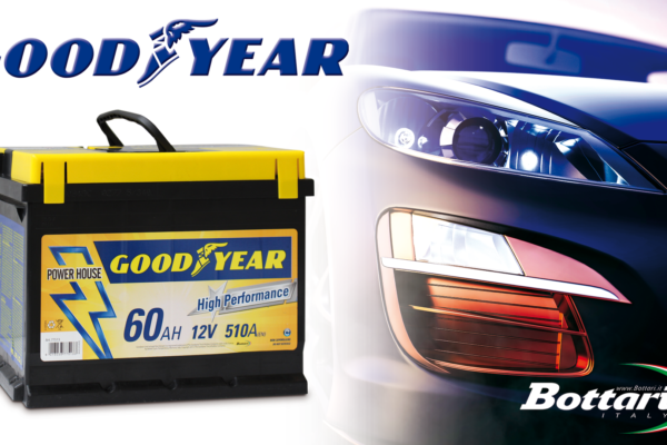 Goodyear Batteria auto 12V 60AH Goodyear Car Battery 12V 60AH