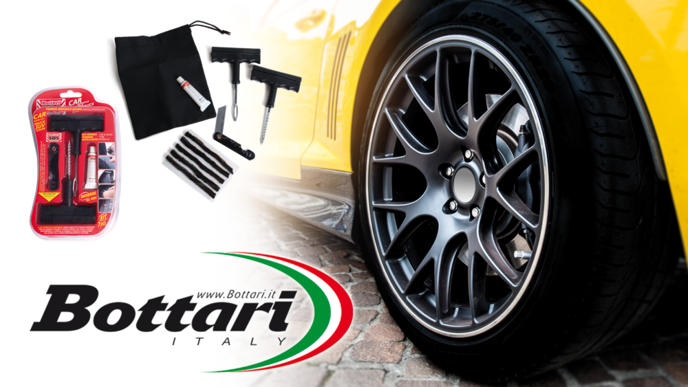 Kit ripara gomma auto e moto Bottari Bottari Car and moto tyre repair kit