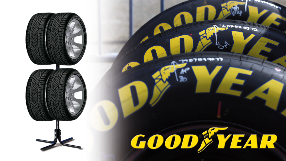 Struttura per cerchi e pneumatici Goodyear Wheel and tyre tree Goodyear