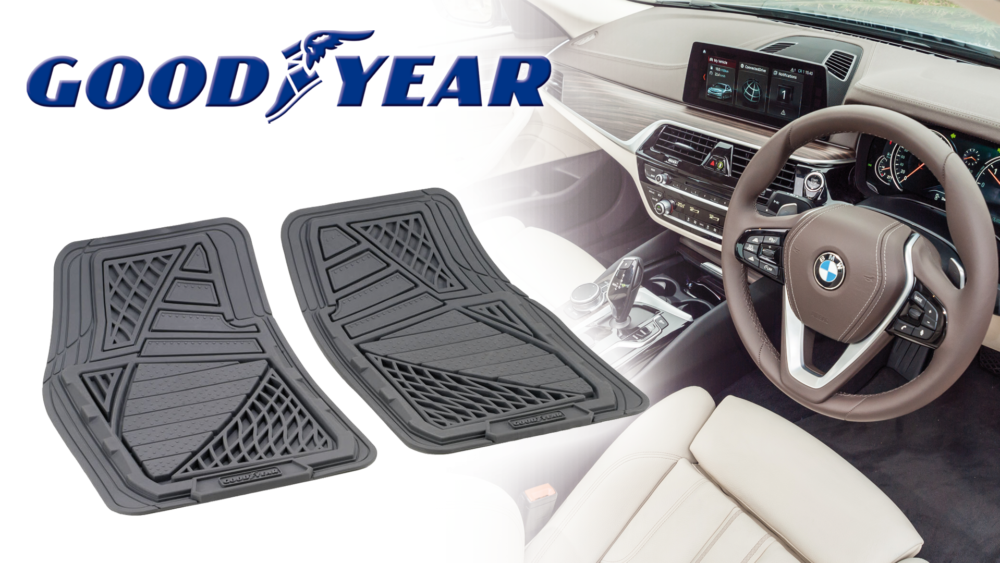 Set tappeti anteriori in gomma Goodyear sagomabili Goodyear shapeable rubber floor mat set