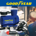 Goodyear 12V compressor with pressure gauge