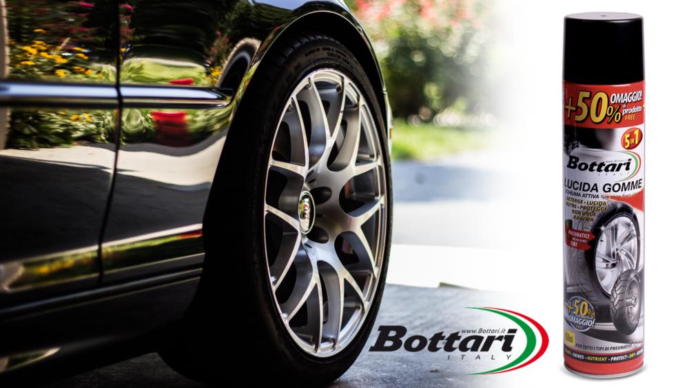 nero gomme schiuma attiva Bottari black tires active foam Bottari