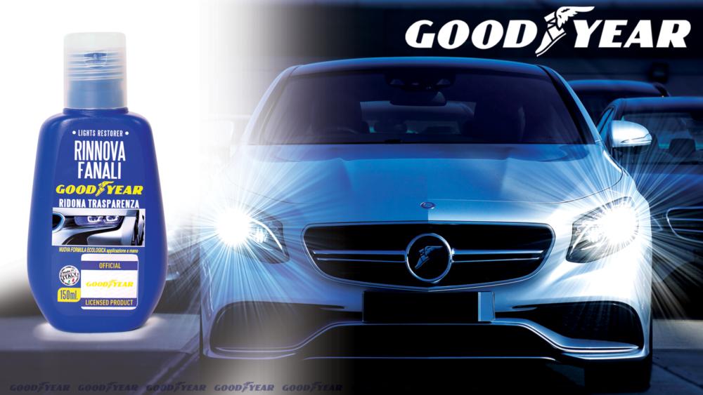 Rinnova fanali Goodyear Goodyear headlight restoration