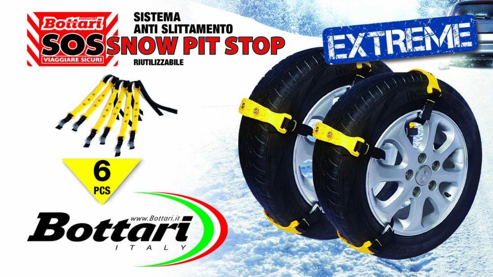 Fasce antiscivolamento snow pit stop extreme Tyre chains snow pit stop extreme